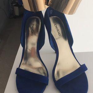 Bebe suede heels